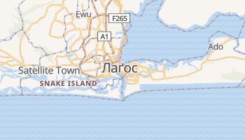 Лагос - детальна мапа