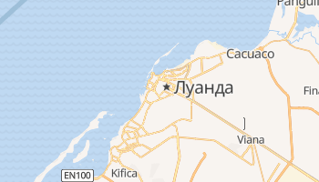 Луанда - детальна мапа