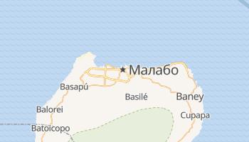 Малабо - детальна мапа