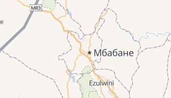 Мбабане - детальна мапа