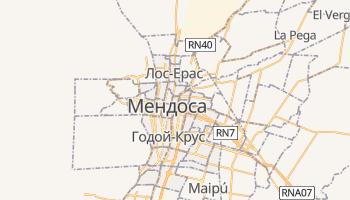 Мендоса - детальна мапа