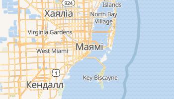 Майамі - детальна мапа
