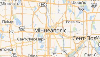 Міннеаполіс - детальна мапа