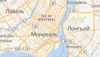 Монреаль - детальна мапа