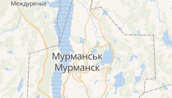 Мурманськ - детальна мапа