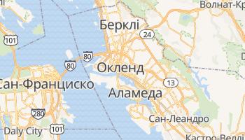 Окленд - детальна мапа