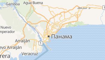 Панама - детальна мапа