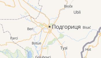 Подгоріца - детальна мапа