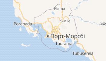 Порт-Морсбі - детальна мапа