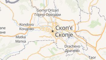 Скоп'є - детальна мапа