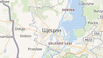 Щецін - детальна мапа