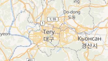 Тегу - детальна мапа