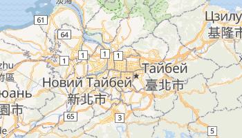 Тайпей - детальна мапа