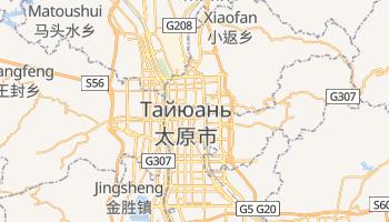 Тайюань - детальна мапа
