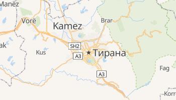 Тірана - детальна мапа