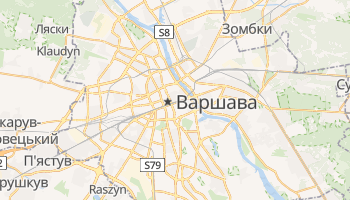 Варшава - детальна мапа