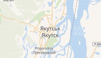 Якутськ - детальна мапа