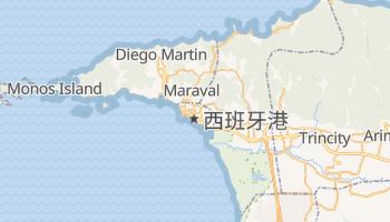 西班牙港 - 在线地图