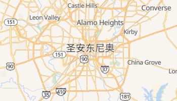 圣安东尼奥 - 在线地图
