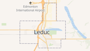 Online-Karte von Leduc