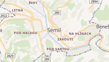 Online-Karte von Semily