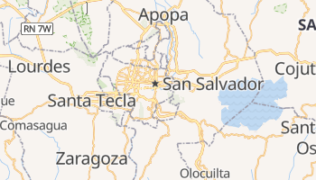 Online-Karte von San Salvador