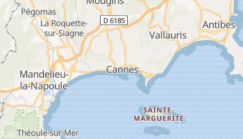 Online-Karte von Cannes