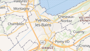 Online-Karte von Yverdon-les-Bains