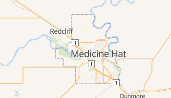 Medicine Hat online map