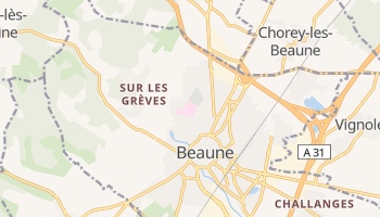 Beaune online map