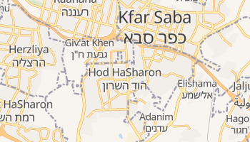 Hod Hasharon online map