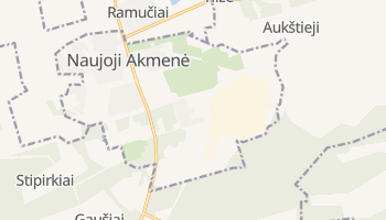 Naujoji Akmene online map