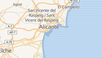 Alicante online map