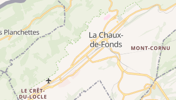 La Chaux-de-Fonds online map