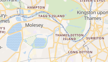 East Molesey online map