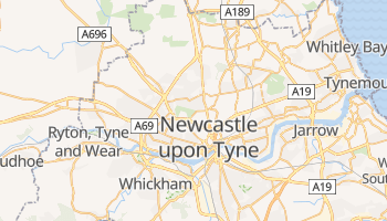 Newcastle Upon Tyne online map