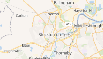 Stockton-on-Tees online map