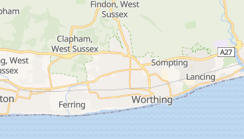 Worthing online map
