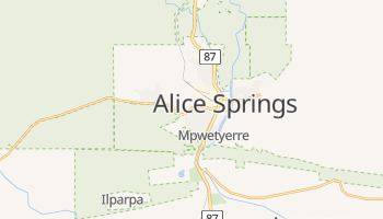 Mapa online de Alice Springs