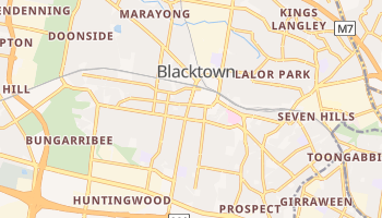Mapa online de Blacktown
