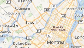 Mapa online de Laval