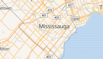 Mapa online de Mississauga