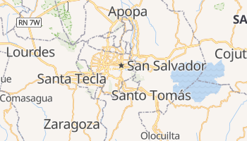 Mapa online de San Salvador
