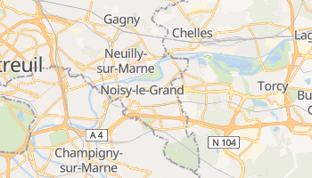 Mapa online de Noisy-le-Grand