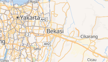 Mapa online de Bekasi