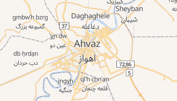 Mapa online de Ahvaz