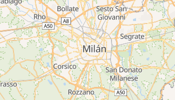 Mapa online de Milán
