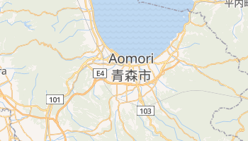 Mapa online de Aomori