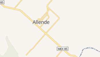 Mapa online de Allende