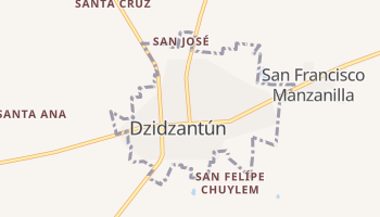 Mapa online de Dzidzantún